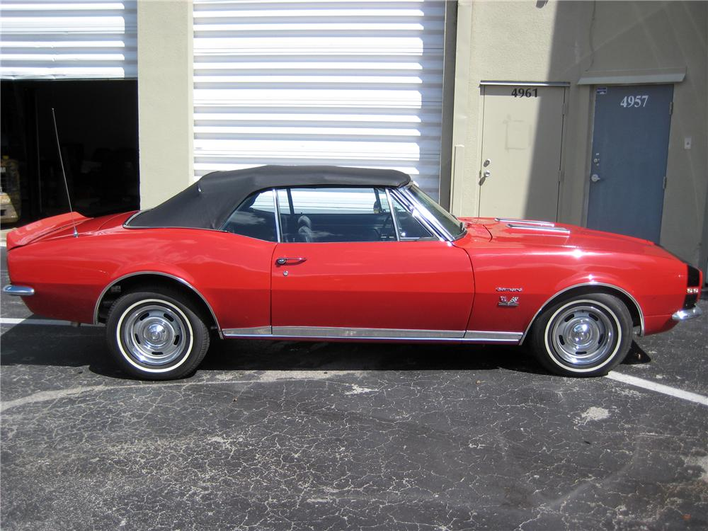 1967 CHEVROLET CAMARO CONVERTIBLE - Side Profile - 125334
