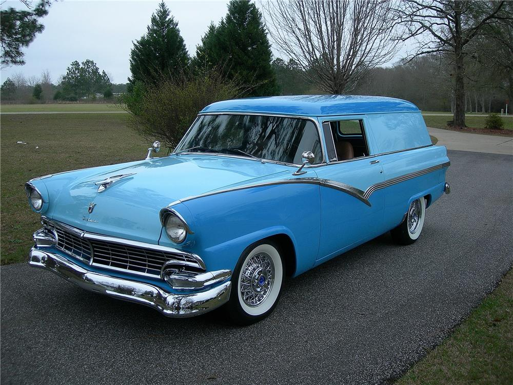 1956 FORD SEDAN DELIVERY CUSTOM - Front 3/4 - 125339