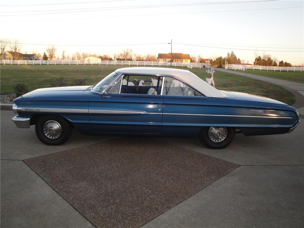 1964 FORD GALAXIE 2 DOOR FASTBACK - Side Profile - 125345