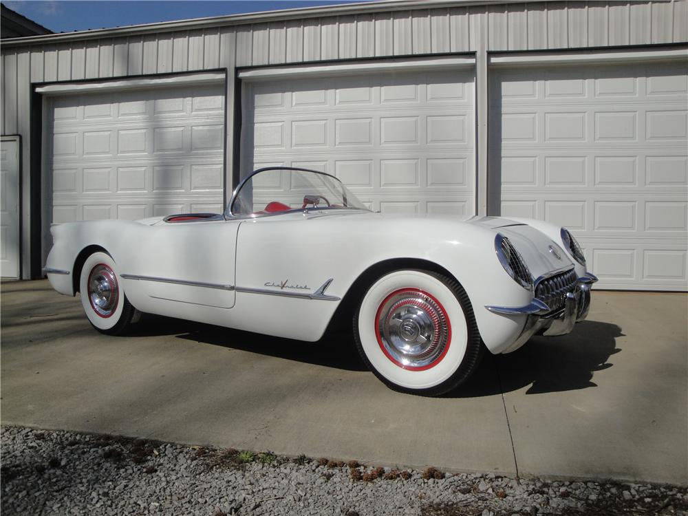 1955 CHEVROLET CORVETTE CONVERTIBLE - Front 3/4 - 125349