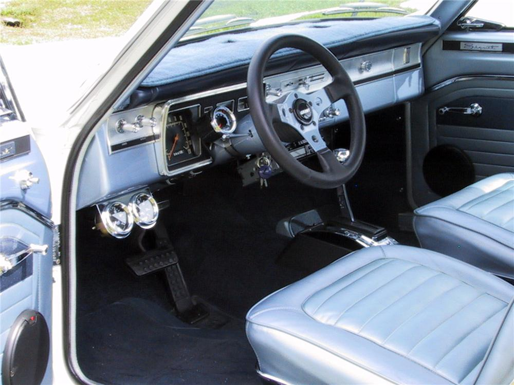 1966 PLYMOUTH VALIANT CUSTOM 2 DOOR HARDTOP - Interior - 125350