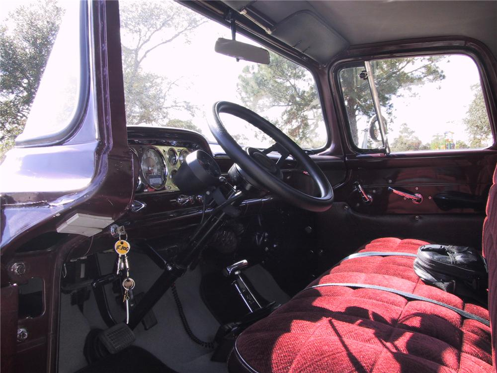 1957 FORD F-100 CUSTOM PICKUP - Interior - 125351
