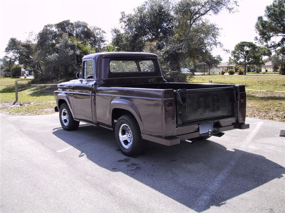 1957 FORD F-100 CUSTOM PICKUP - Rear 3/4 - 125351