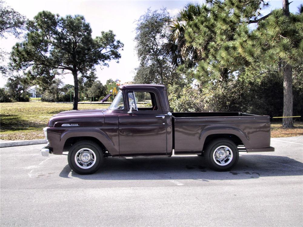1957 FORD F-100 CUSTOM PICKUP - Side Profile - 125351