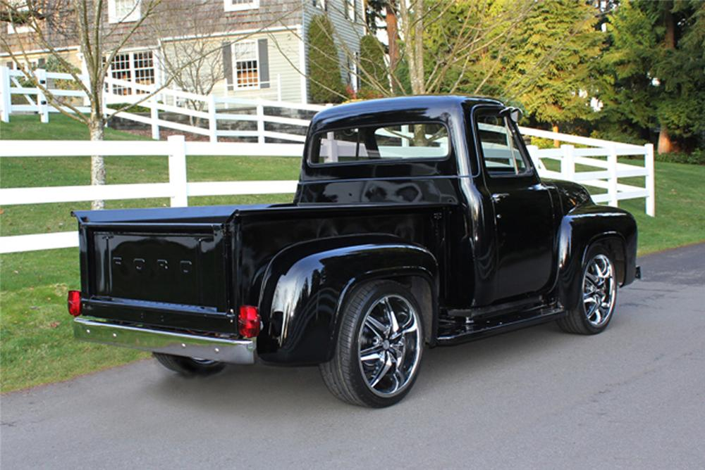 1953 FORD F-100 CUSTOM PICKUP - Rear 3/4 - 125355