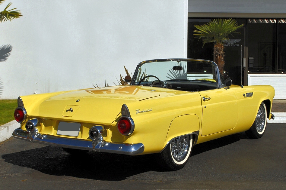 1955 FORD THUNDERBIRD CONVERTIBLE - Rear 3/4 - 125356