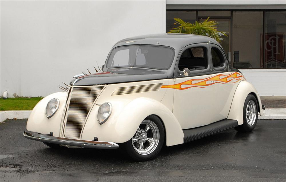1937 ford custom 2 door coupe 125357 for 1937 ford two door sedan