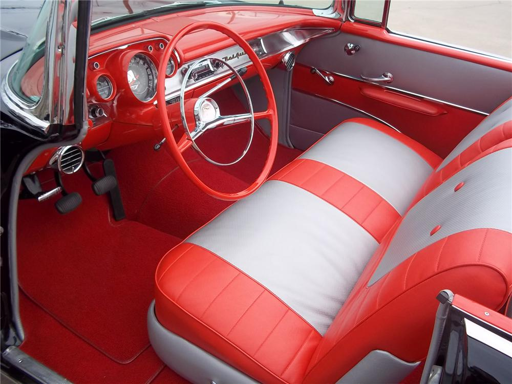 1957 CHEVROLET BEL AIR CONVERTIBLE - Interior - 125544