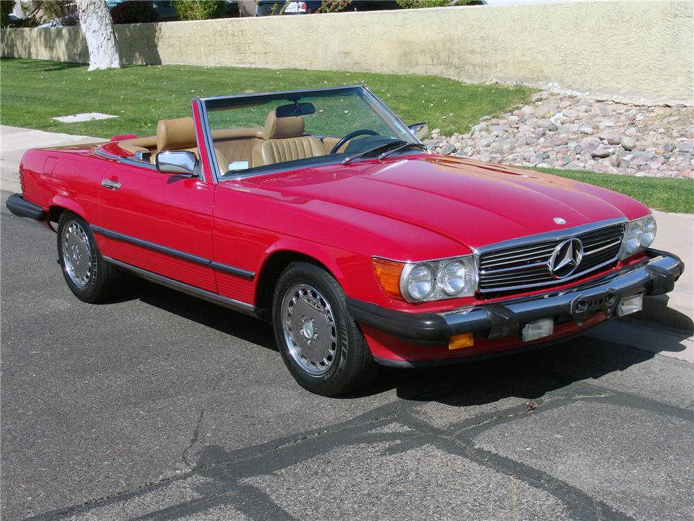 1989 MERCEDES-BENZ 560SL CONVERTIBLE - Front 3/4 - 125665