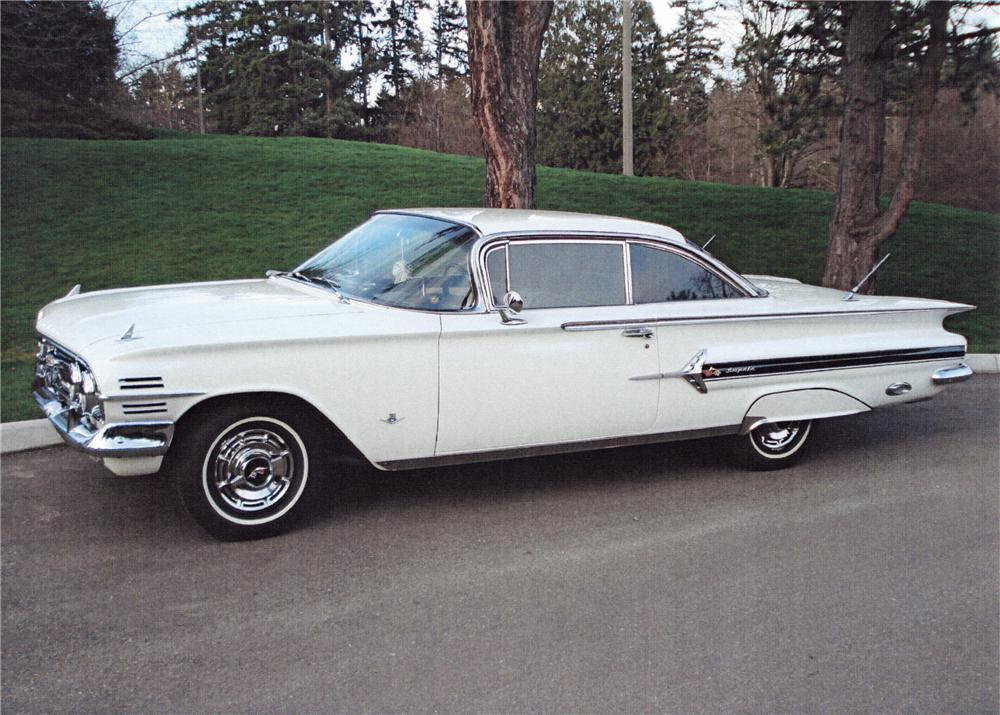 1960 CHEVROLET IMPALA 2 DOOR SPORT COUPE - Side Profile - 125670