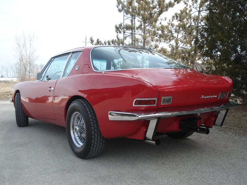 1963 STUDEBAKER AVANTI 2 DOOR COUPE - Rear 3/4 - 125678