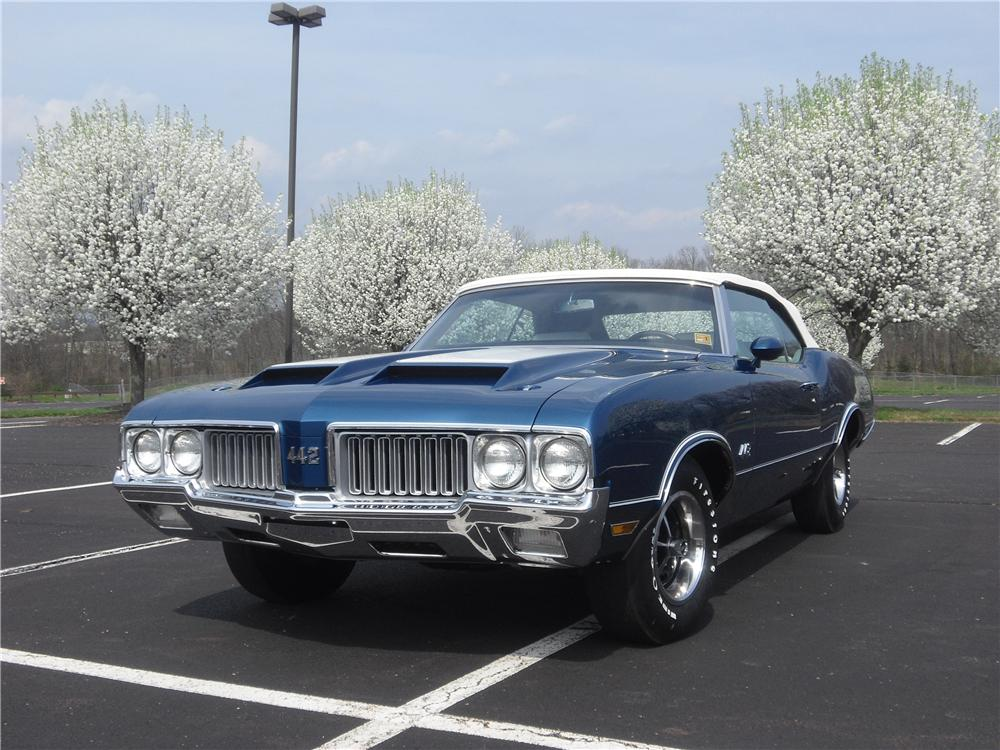 1970 OLDSMOBILE CUTLASS 442 CONVERTIBLE - Front 3/4 - 125706