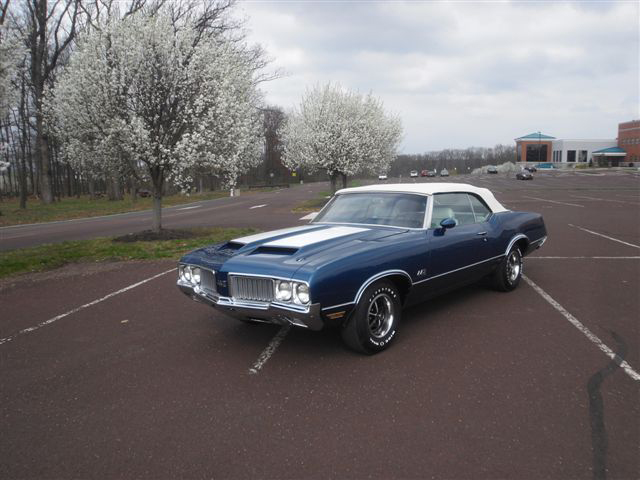 1970 OLDSMOBILE CUTLASS 442 CONVERTIBLE - Side Profile - 125706