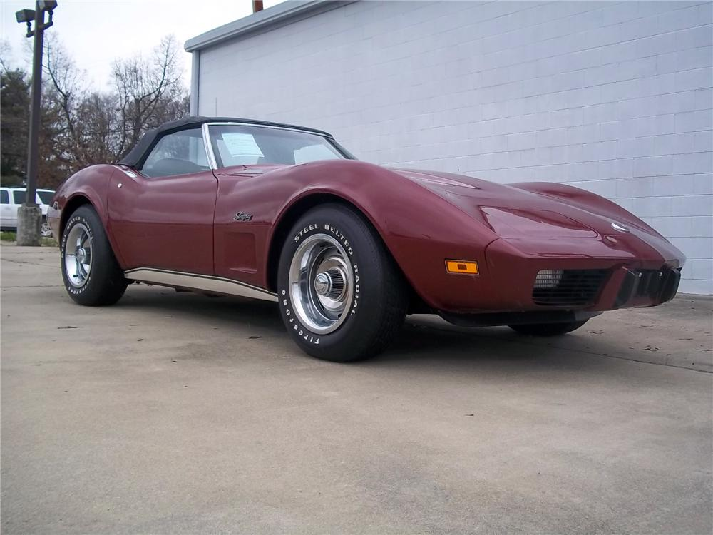 1975 CHEVROLET CORVETTE CONVERTIBLE - Front 3/4 - 125712