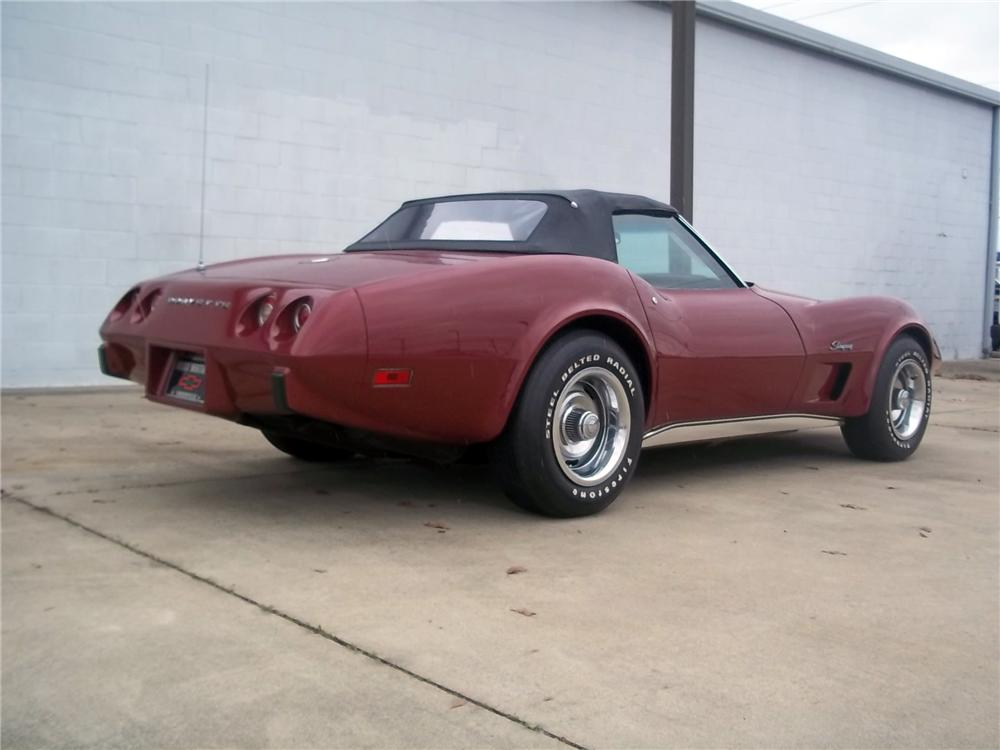1975 CHEVROLET CORVETTE CONVERTIBLE - Rear 3/4 - 125712