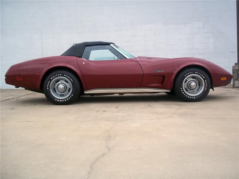 1975 CHEVROLET CORVETTE CONVERTIBLE - Side Profile - 125712