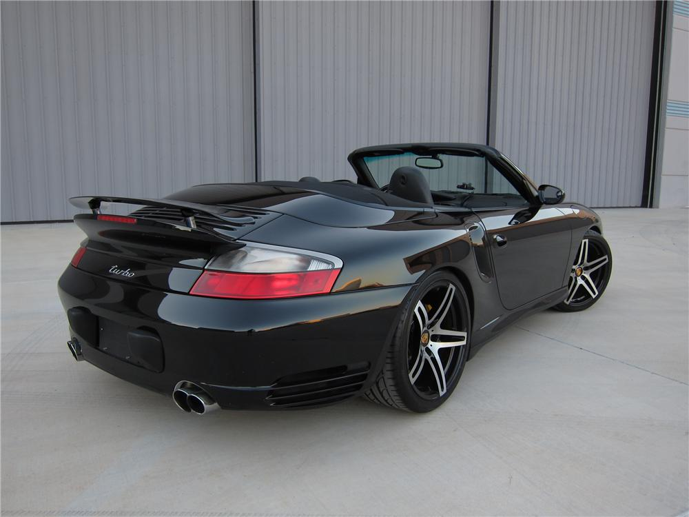 2004 PORSCHE 911 TURBO CABRIOLET - Rear 3/4 - 125731