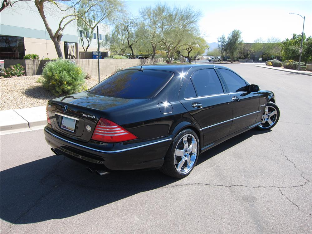 2004 MERCEDES-BENZ S55 AMG 4 DOOR SEDAN - Rear 3/4 - 125732