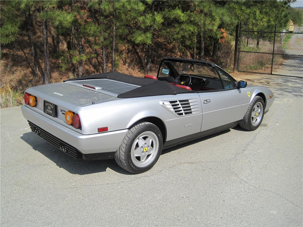 1988 FERRARI MONDIAL CONVERTIBLE - Rear 3/4 - 125736