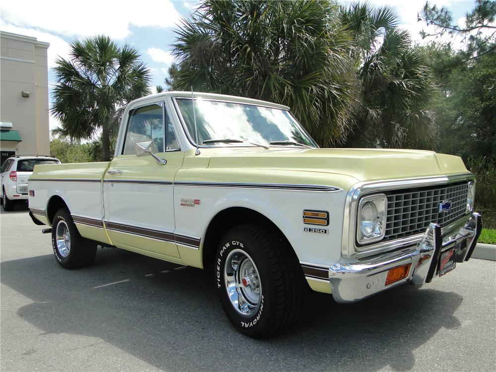 1972 CHEVROLET C-10 PICKUP - Front 3/4 - 125741