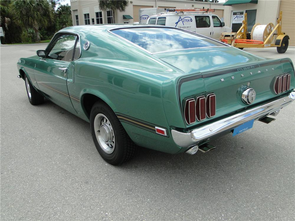1969 FORD MUSTANG MACH 1 428 SCJ FASTBACK - Rear 3/4 - 125745