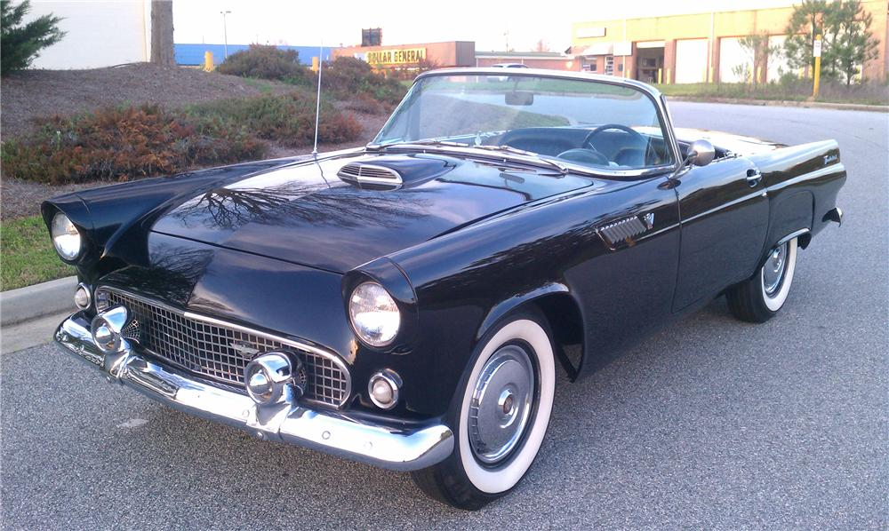 1955 FORD THUNDERBIRD CONVERTIBLE - Front 3/4 - 125746