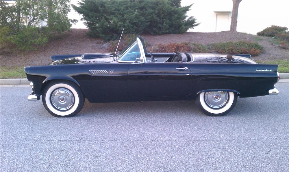1955 FORD THUNDERBIRD CONVERTIBLE - Side Profile - 125746