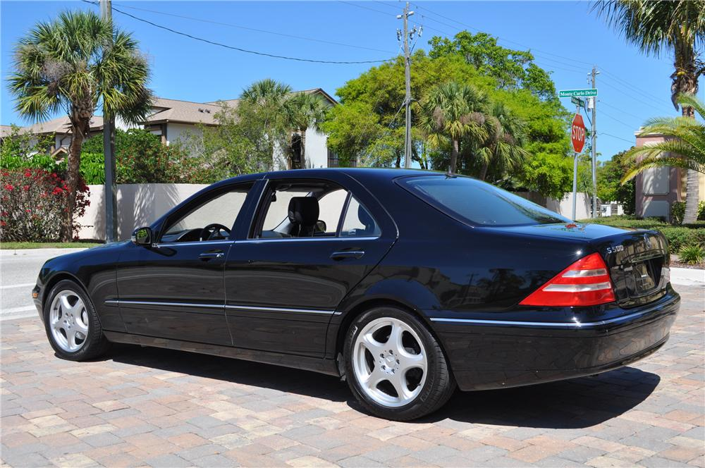2002 MERCEDES-BENZ S500 4 DOOR SEDAN - Rear 3/4 - 125752