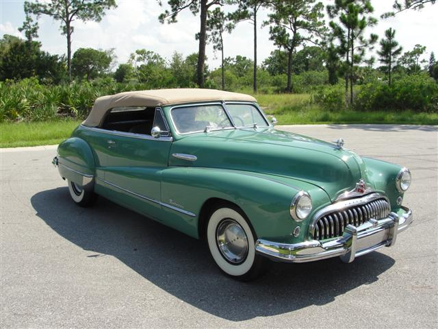 1948 BUICK ROADMASTER SERIES 76 C CONVERTIBLE - Front 3/4 - 125799