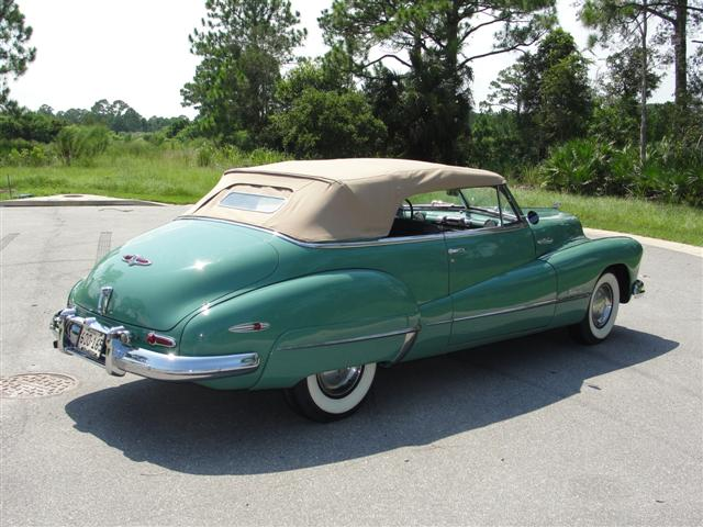 1948 BUICK ROADMASTER SERIES 76 C CONVERTIBLE - Rear 3/4 - 125799