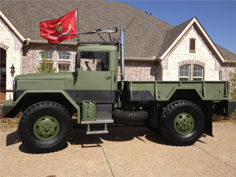 1990 AM GENERAL CUSTOM MILITARY TRUCK - Side Profile - 125802