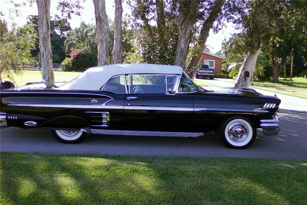 1958 CHEVROLET IMPALA CONVERTIBLE - Side Profile - 125810
