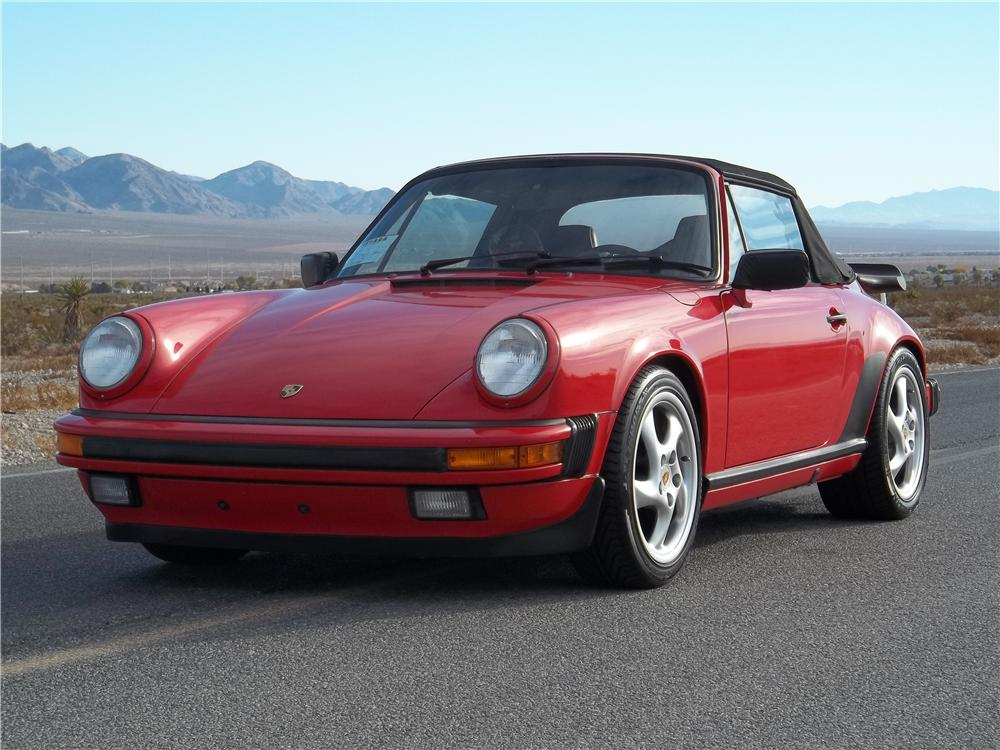 1988 PORSCHE 911 CARRERA CABRIOLET - Side Profile - 125812