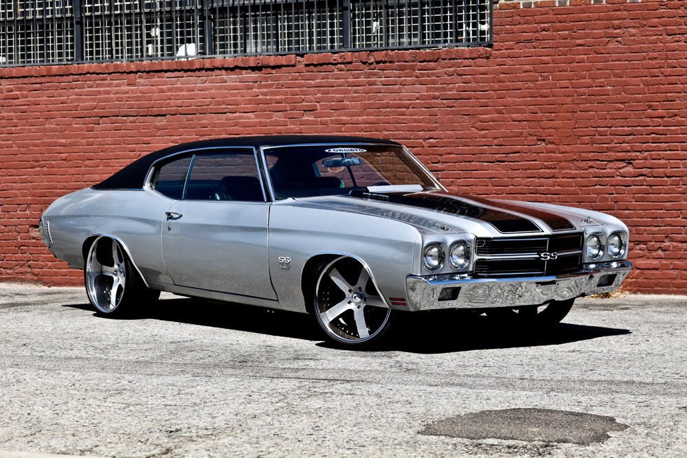 1970 CHEVROLET CHEVELLE SS CUSTOM COUPE - Front 3/4 - 125816