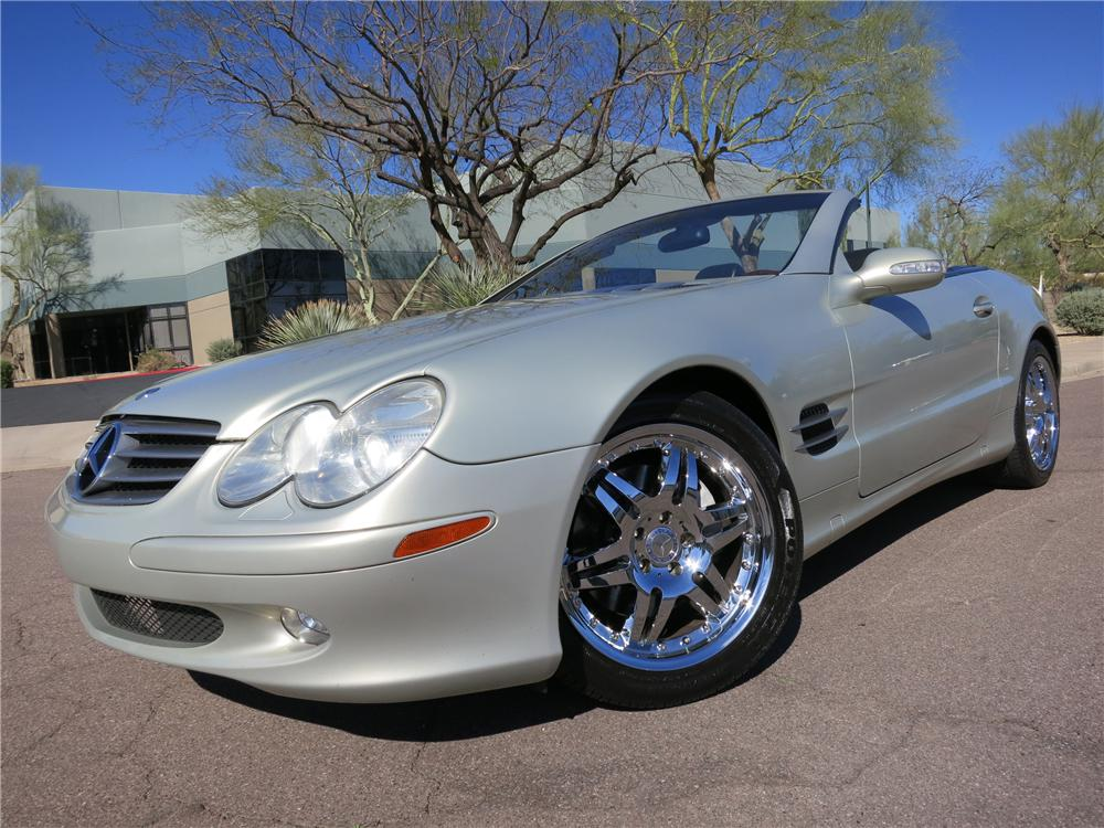 2003 MERCEDES-BENZ 500SL CONVERTIBLE - Front 3/4 - 125821