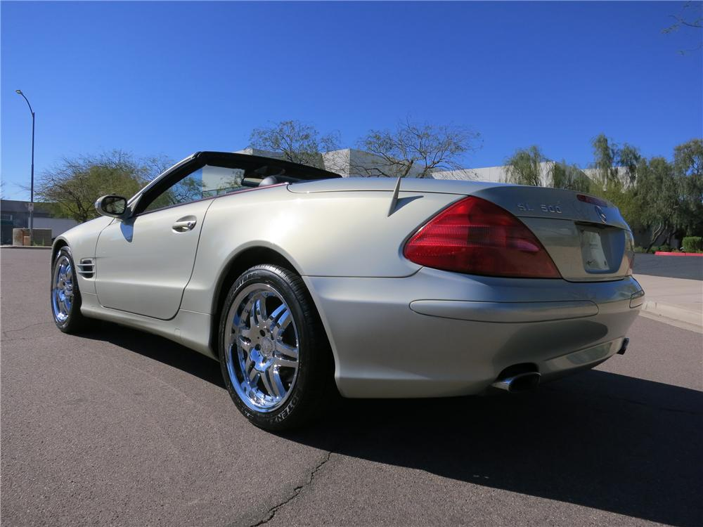 2003 MERCEDES-BENZ 500SL CONVERTIBLE - Rear 3/4 - 125821