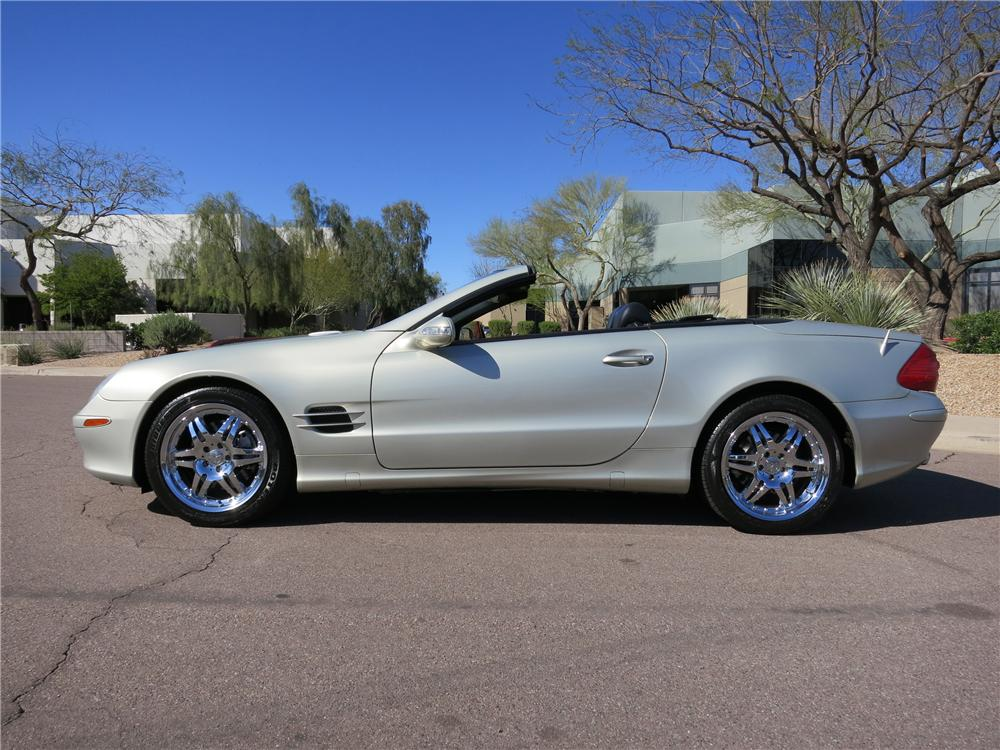 2003 MERCEDES-BENZ 500SL CONVERTIBLE - Side Profile - 125821