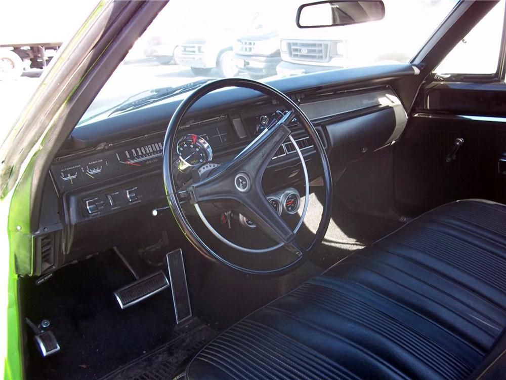 1969 DODGE CORONET CUSTOM 2 DOOR COUPE - Interior - 125830
