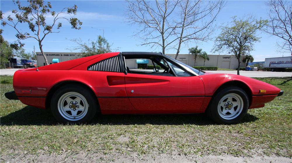 1980 FERRARI 308 GTS TARGA - Side Profile - 125832