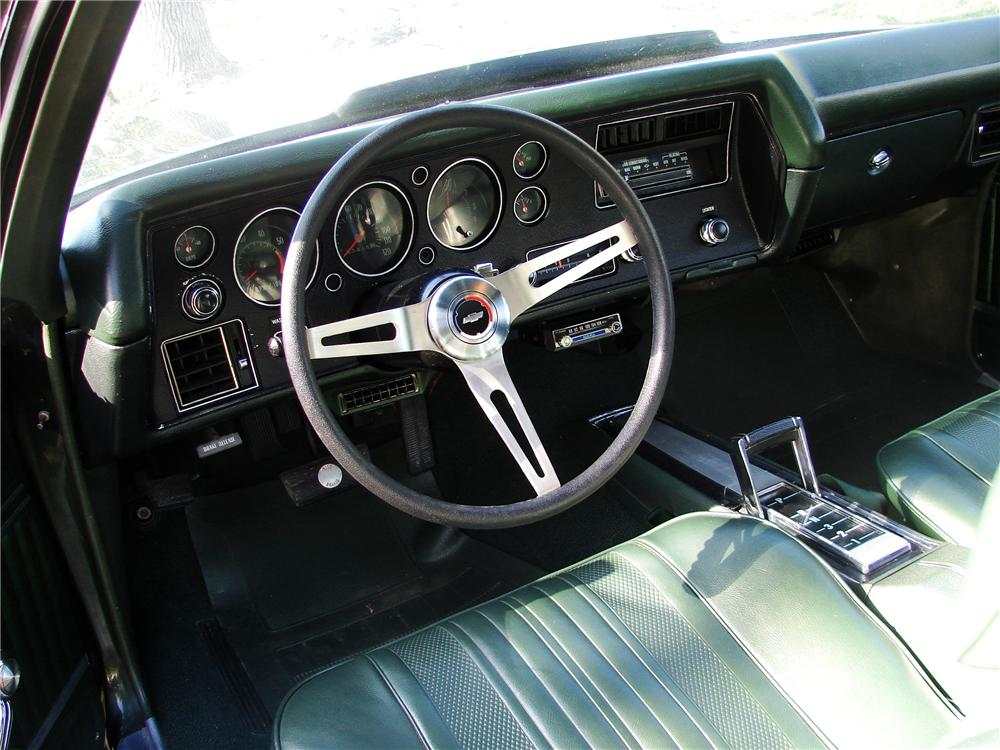 1970 CHEVROLET CHEVELLE SS 396 2 DOOR COUPE - Interior - 125837