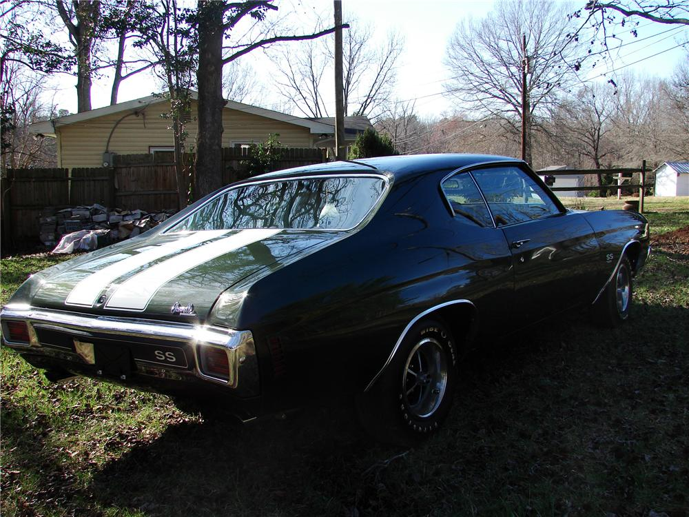 1970 CHEVROLET CHEVELLE SS 396 2 DOOR COUPE - Rear 3/4 - 125837