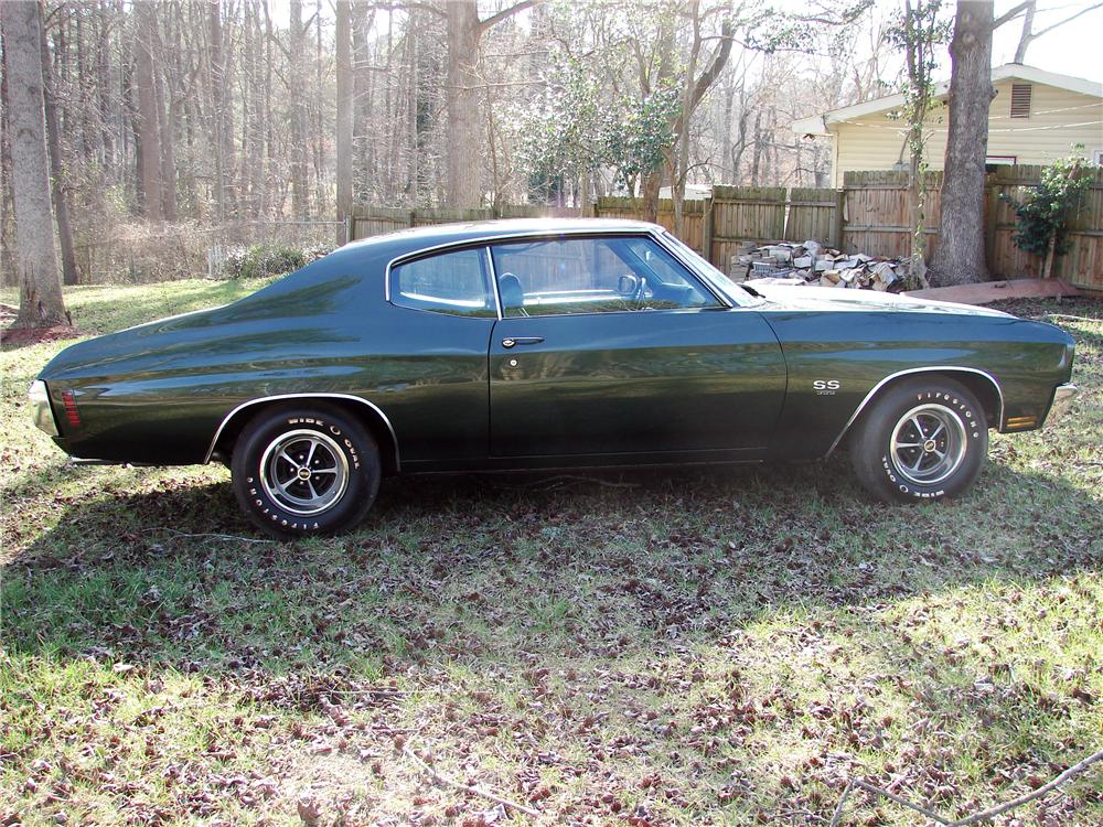 1970 CHEVROLET CHEVELLE SS 396 2 DOOR COUPE - Side Profile - 125837