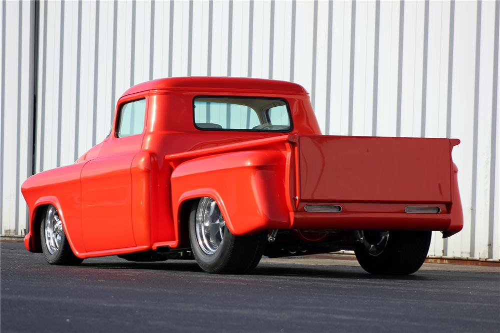 1955 CHEVROLET 3100 CUSTOM PICKUP - Rear 3/4 - 125873
