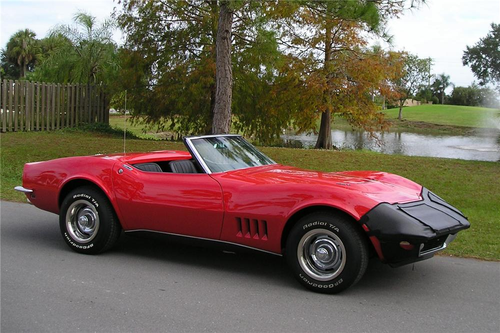 1968 CHEVROLET CORVETTE CONVERTIBLE - Side Profile - 125893