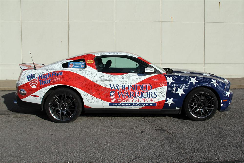 2011 FORD SHELBY GT500 2 DOOR HARDTOP - Side Profile - 130193