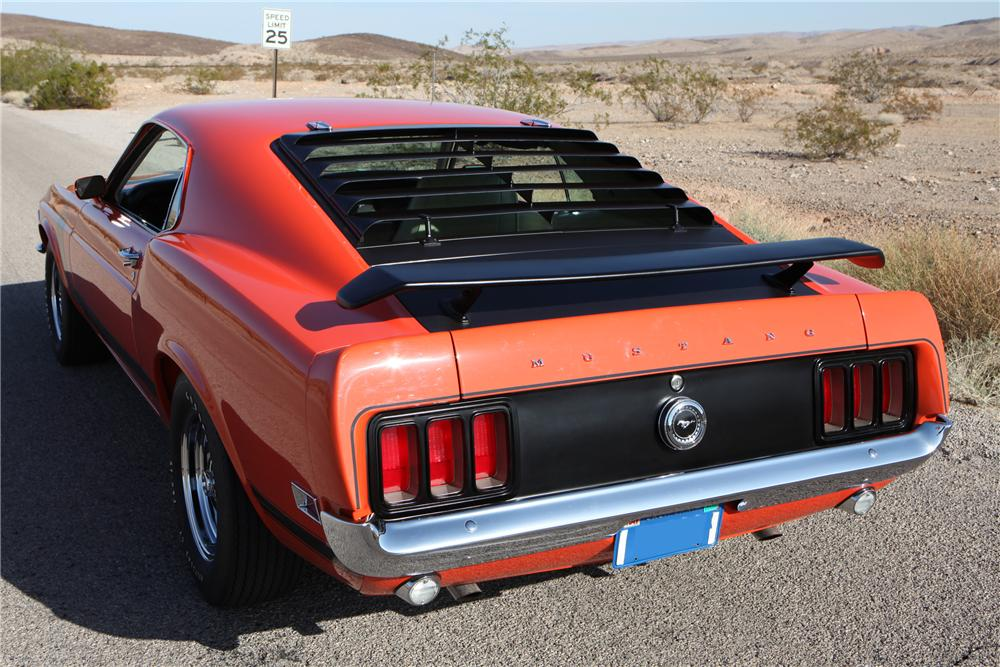 1970 FORD MUSTANG BOSS 302 FASTBACK - Rear 3/4 - 130228