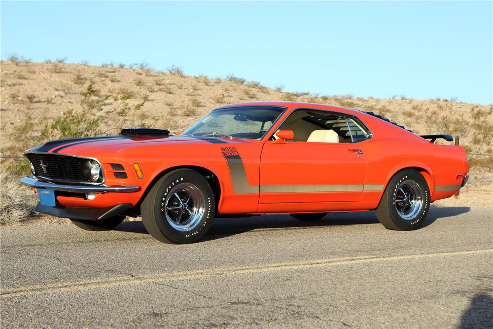 1970 FORD MUSTANG BOSS 302 FASTBACK - Side Profile - 130228
