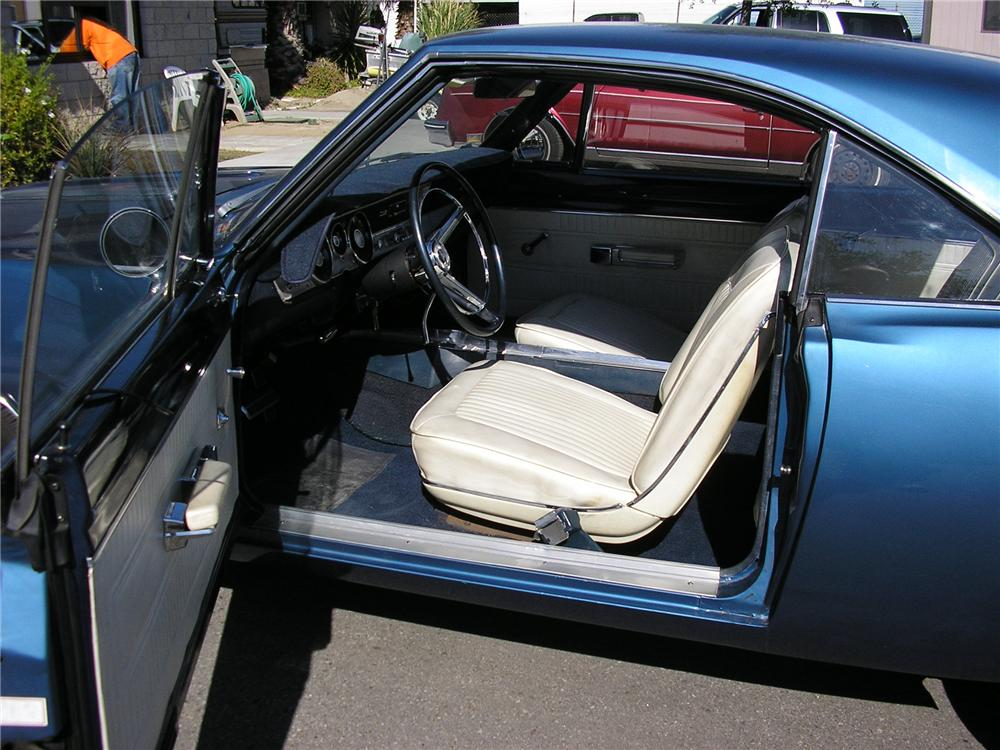 1967 PLYMOUTH BARRACUDA 2 DOOR HARDTOP - Interior - 130230