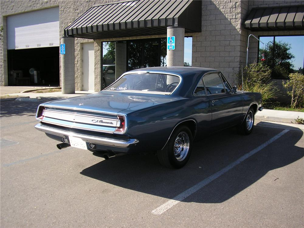 1967 PLYMOUTH BARRACUDA 2 DOOR HARDTOP - Rear 3/4 - 130230