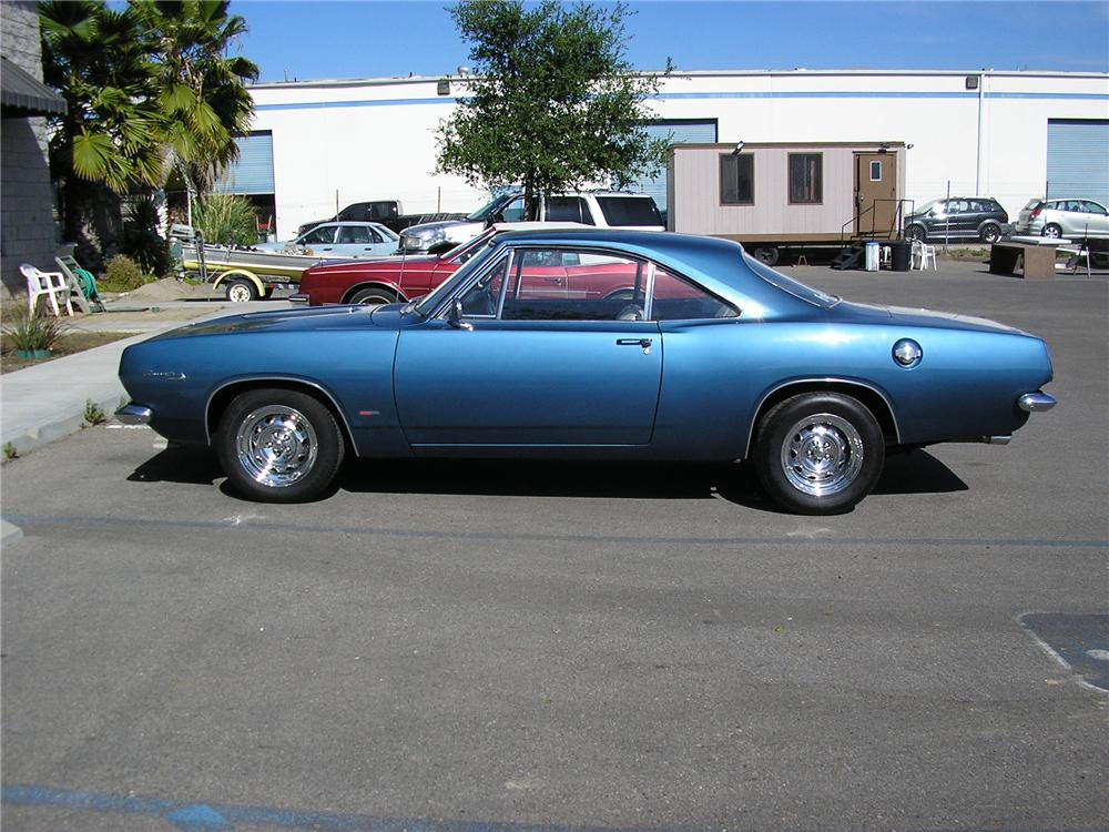 1967 PLYMOUTH BARRACUDA 2 DOOR HARDTOP - Side Profile - 130230